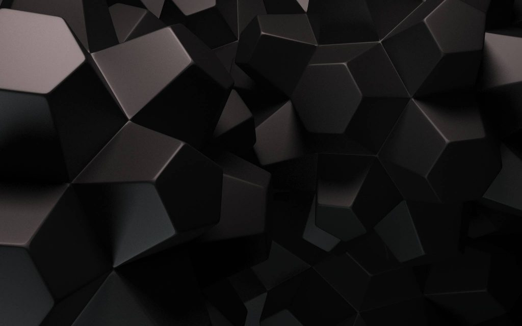 Abstract Black Cubes Geometric Wallpaper Background