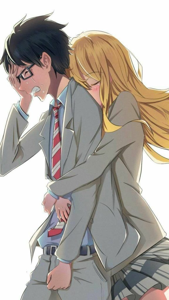 Wallpaper Background Anime-Couple-Couples-Cry-Girl-Girlxboy-High-Love-Love-Of-Sadness-School
