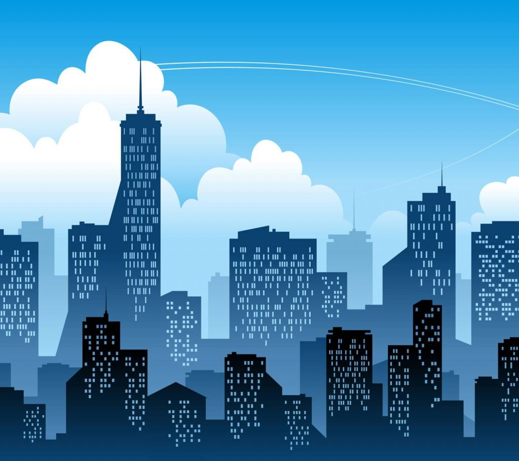 Building City Cityscape Tower Vector Wallpaper Background