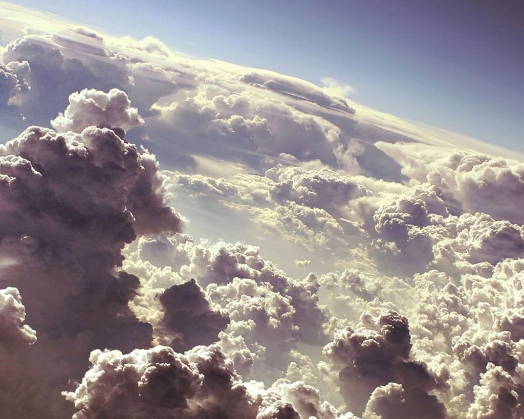 Clouds-Sky-Space Wallpaper Background