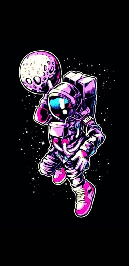 Colour-Colourful-Drawing-Space-Space-Man Wallpaper Background