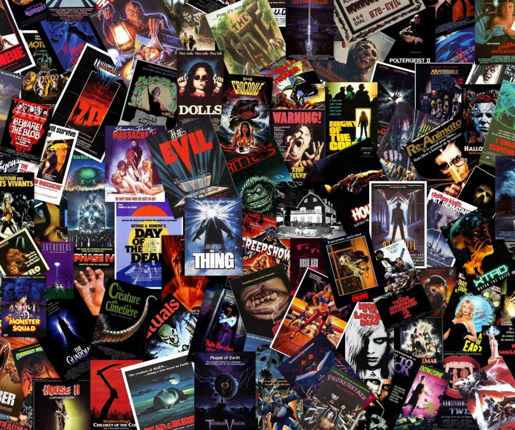 Wallpaper Background Horror-Movies-Poster-Vintage